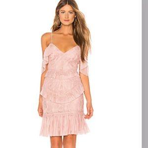 VALORIE DRESS IN DUSTY PINK- Bardot